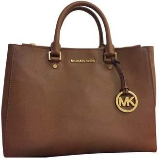 Michael Kors Sutton Brown Leather Handbags