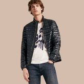 Burberry Lightweight Down-filled Jacket , Size: Xl, Blue