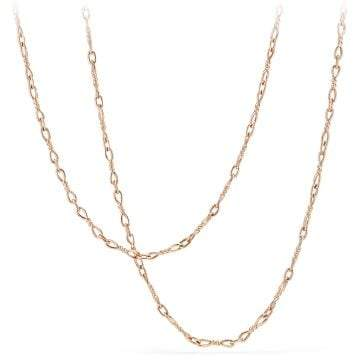 David Yurman Continuance Small Chain Necklace In 18K Rose Gold