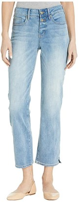 NYDJ Marilyn Straight Ankle Jeans with Side Slits in Biscayne (Biscayne) Women's Jeans