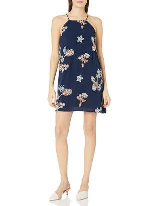 J.o.a. Women's Floral Print Embroidered Flare Dress
