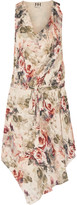 Haute Hippie Floral-print silk mini dress