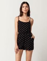 SKY AND SPARROW Polka Dot Womens Romper