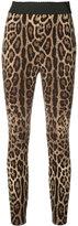 Dolce & Gabbana leggings - women - Silk/Spandex/Elastane - 38