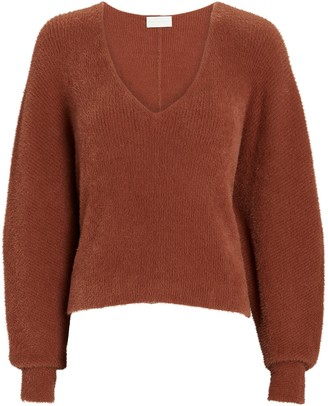 Mason by Michelle Mason Oversized V-Neck Fuzzy Sweater