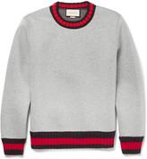 Gucci Stripe-Trimmed Cotton Sweatshirt