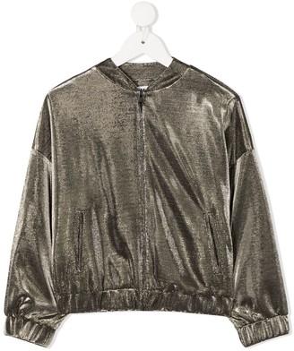 Karl Lagerfeld Paris Metallic Bomber Jacket