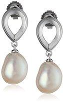 Honora White Freshwater Cultured Pearl Dangle Earrings