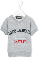 DSQUARED2 slogan T-shirt - kids - Cotton/Rayon - 4 yrs