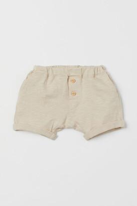 H&M Slub Jersey Shorts - Beige