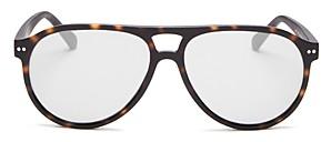 Look Optic Unisex Liam Brow Bar Aviator Reader Sunglasses, 57mm