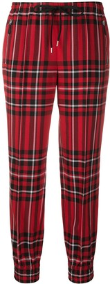 Ermanno Scervino Tapered Plaid Trousers