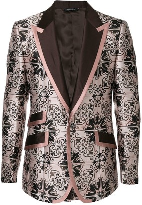 Dolce & Gabbana Maiolica jacquard blazer