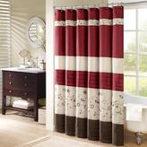 """Madison Park Serene Embroidered Shower Curtain - Red/54"""" x 78"""""""