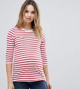 New Look Maternity Stripe 3/4 Sleeve Tee
