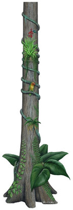 Rainforest Walls Of The Wild Tree Wall Decal