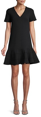 Rebecca Taylor Textured Ruffled Hem Mini Dress