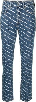 Alexander Wang Logo-Printed Jeans