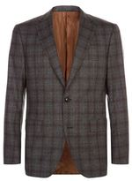 Pal Zileri Brown Check Suit Jacket