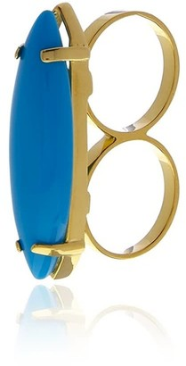 Georgina Jewelry Turquoise Two Finger Ring