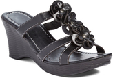 Pandora Black Floral Wedge Sandal