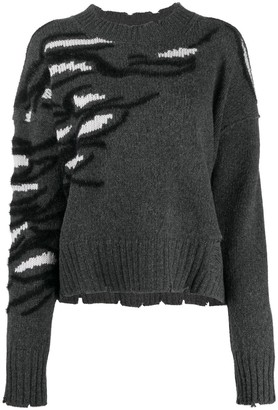 Zadig & Voltaire Starry tiger knit slouchy jumper
