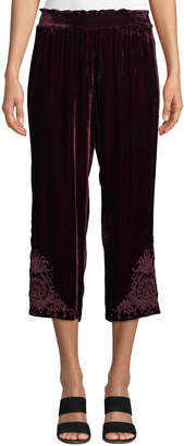 Johnny Was Hirsch Velvet Cropped Pants