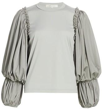 Comme des Garcons Draped Blouson-Sleeve Shirt
