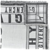 Givenchy logo printed scarf
