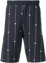 Champion logo stripe track shorts