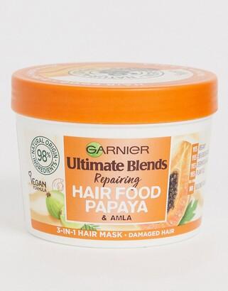 Garnier Ultimate Blends Vegan Hair Food Papaya 3-in-1 Damaged Hair Mask Treatment 390ml