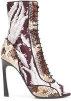 Giambattista Valli snakeskin effect contrast boots