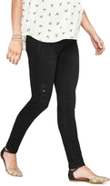 A Pea in the Pod Luxe Essentials Denim Destructed Black Maternity Jean