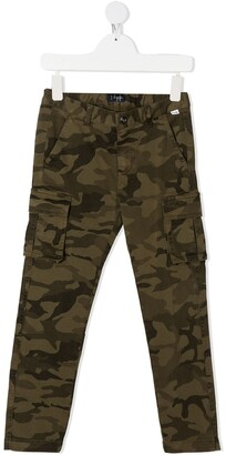 Il Gufo Camouflage-Print Cargo Trousers