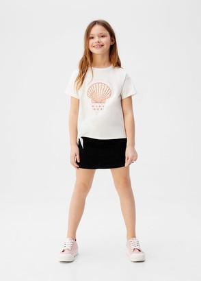 MANGO Pearls organic cotton T-shirt
