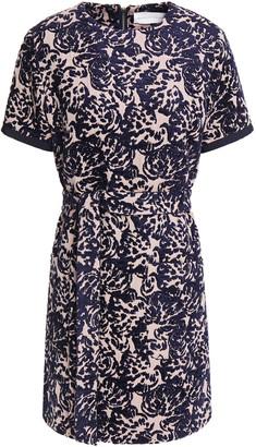 Victoria Victoria Beckham Belted Chenille-jacquard Mini Dress