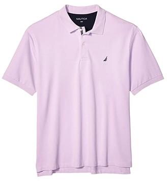 Nautica Big Tall Short Sleeve Solid Deck Shirt (Purple) Men's Short Sleeve Knit