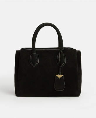 MANGO Bovine Leather Shopper Bag