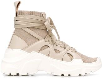 Agnona 2.28 Cashmere-Knit sneakers