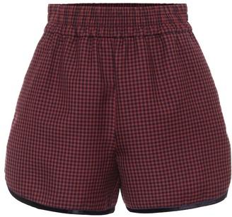 Fendi Check virgin wool shorts