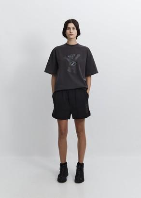 we11done Iridescent Logo Shorts Black