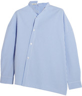 Totême - Noma Asymmetric Gingham Cotton Top - Sky blue