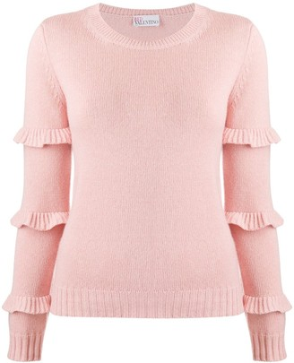 RED Valentino Ruffle-Detail Knitted Jumper