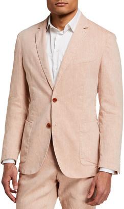 HUGO BOSS Men's Hanry Linen-Blend Suit Jacket