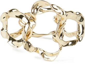 Alexis Bittar Crumpled Metal Link Hinge Bracelet