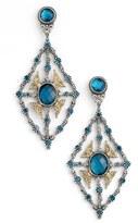 Konstantino Women's 'Thalassa' Blue Topaz Kite Chandelier Earrings