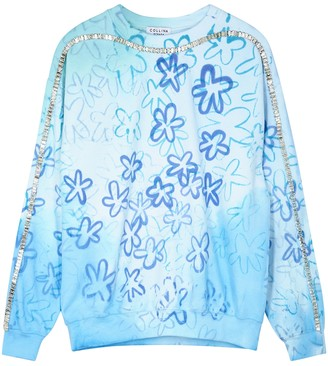 Collina Strada Sporty Spice Printed Cotton-blend Sweatshirt