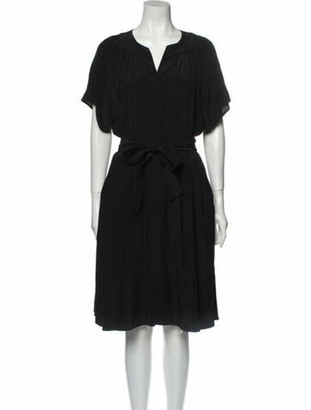 Derek Lam Silk Knee-Length Dress Black
