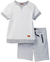 7 For All Mankind Pop Over Tee & Athletic Short (Toddler Boys)