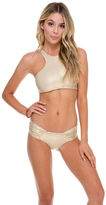 Luli Fama Scrunch Panty Ruched Back In Gold Rush (L176346)